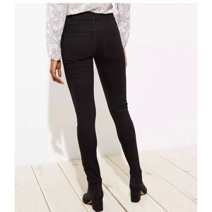 LOFT Modern Slim Straight Leg Jeans Black Size 4P